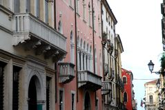 Widok Corso Palladio Vicenza w Veneto (Ital Zdjęcie Stock