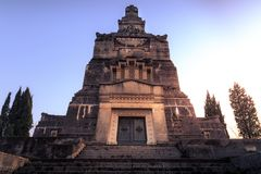 Widok Crespi d ` Adda cmentarz i mauzoleum fotografia royalty free