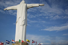 Widok Cristo Rey statua Cal Zdjęcia Royalty Free