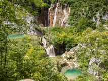 widok Croatia jezior park narodowy plitvice widok Zdjęcia Royalty Free