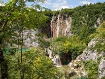 widok Croatia jezior park narodowy plitvice widok Zdjęcie Stock