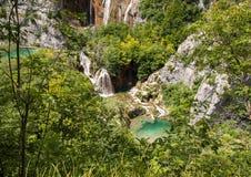 widok Croatia jezior park narodowy plitvice widok Obraz Stock
