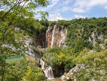 widok Croatia jezior park narodowy plitvice widok Obrazy Royalty Free