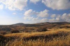 Widok Cypr góry i piękny pogodny niebo zdjęcia royalty free
