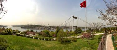 Widok część Istanbuł od Azjatyckiej strony i Bosporus Zdjęcie Royalty Free