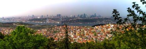 Widok część Istanbuł od Azjatyckiej strony i Bosporus Obrazy Stock
