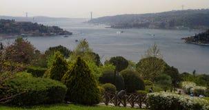 Widok część Istanbuł od Azjatyckiej strony i Bosporus Obrazy Royalty Free