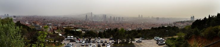 Widok część Istanbuł od Azjatyckiej strony i Bosporus Obraz Stock
