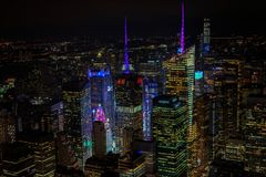 Widok czasu kwadrat od empire state building obrazy royalty free