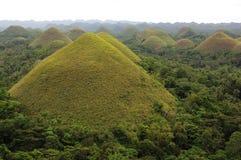 Widok Czekoladowi wzgórza, Bohol wyspa Zdjęcie Stock