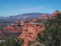 Widok Czerwone skały Obraz Royalty Free