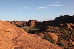 Widok czerwony pustynia krajobraz Śnieżny jaru stanu park Fotografia Stock