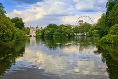 Dębowa wyspa London Zdjęcie Stock