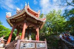 Widok Długa syn pagoda obrazy stock