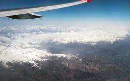 Widok dżetowego samolotu skrzydło Obraz Stock