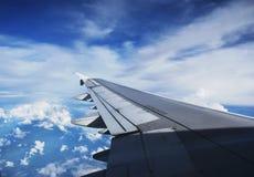 Widok dżetowego samolotu skrzydło Zdjęcie Royalty Free