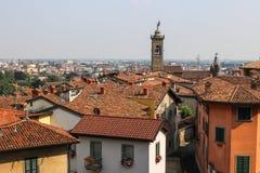 Widok dach Bergamo Zdjęcia Stock