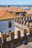 Widok dach Evora katedry Se dekorował z Obrazy Stock