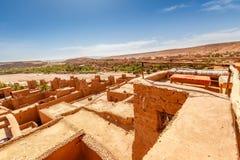 Widok dach forteca Ait Ben Haddou Obrazy Stock