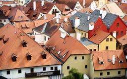 Widok dachy Cesky Krumlov obrazy stock