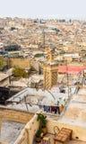 Widok dachy fez Medina fez Morocco Zdjęcie Royalty Free