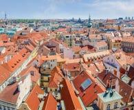 Widok dachy Stary miasteczko od urzędu miasta, Praga Zdjęcia Royalty Free