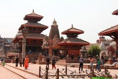 Widok Darbar kwadrat, Patan, Kathmandu, Nepal Zdjęcia Stock