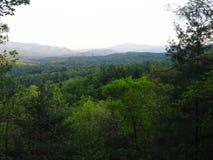 Widok Del Rio, Tennessee blisko Angielskiej góry Zdjęcia Stock