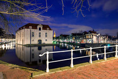 Widok Delft stary centrum miasta Zdjęcia Royalty Free