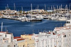 Widok Denia Port Obrazy Royalty Free