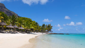 Widok denna plaża Obrazy Stock