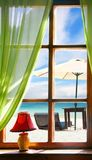 widok denny okno Obraz Stock