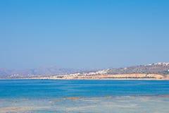 Widok denny wybrzeże w Chania, Crete wyspa, Grecja obraz royalty free