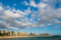 Widok diament głowa przy półmrokiem od ałunu Moana plaży parka magii Ja obraz royalty free