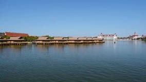 Widok Disney kurortu wioski Polinezyjski kurort od Ferryboat 2 zbiory