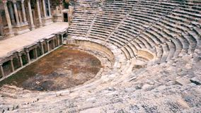 Widok dobrze konserwujący starożytnego grka amphitheatre zdjęcie wideo