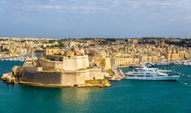 Widok Dockyard zatoczka w Valletta Obrazy Royalty Free