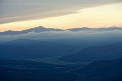Widok dolina blisko Sabie, Południowa Afryka Zdjęcia Stock