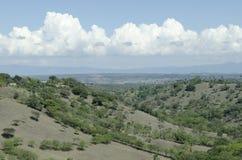 Widok dolina miasto Santiago De Los Caballeros fotografia stock