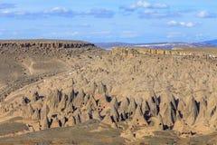 Widok dolina przy zmierzchem indyk Zdjęcie Stock