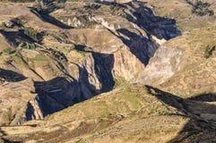 Widok dolina w Colca jarze, Peru Obraz Royalty Free