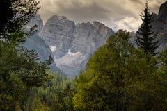Widok dolomit gór północ Włochy Zdjęcia Stock