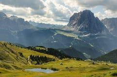 Widok Dolomiti góry Obrazy Stock