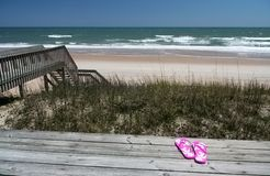 widok domku na plaży Zdjęcia Royalty Free
