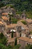 Widok domy wioska Provence i dachy Obrazy Royalty Free