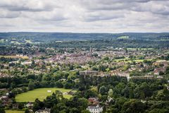 Widok Dorking, Anglia, UK zdjęcie royalty free
