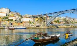 Widok Douro rzeka w Porto, Zdjęcie Stock