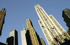 Widok drapacz chmur i bliźniacze wieże w Nowy Jork Zdjęcia Royalty Free