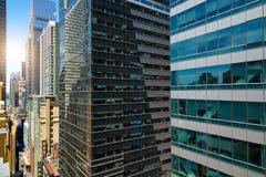 Widok drapacze chmur w Manhattan, Miasto Nowy Jork Obraz Stock