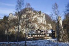 Widok drewniany budynek w Ojcow Zdjęcie Stock